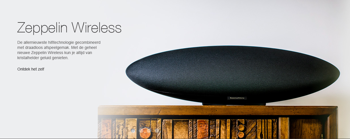 Bowers & Wilkins Zeppelin Wireless: in demo en op stock!